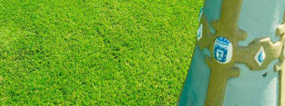 Entrevías pools install Sumigran Everest artificial grass