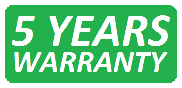 Warranty period: 5 years