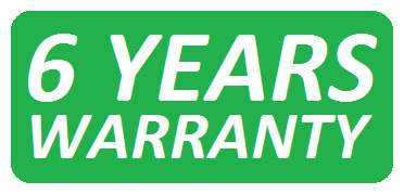 Warranty period: 6 years