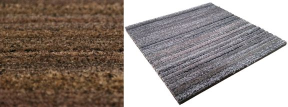 Entrance matting carpet tiles