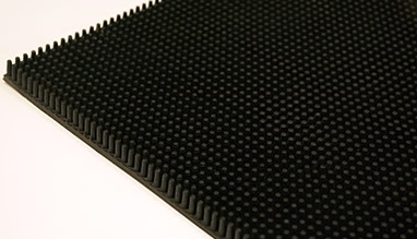 Rubber pin entrance mat